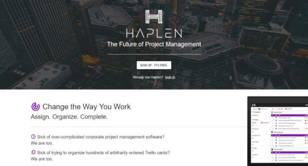Haplen: Slick and Simple Project Management | The Startup INC