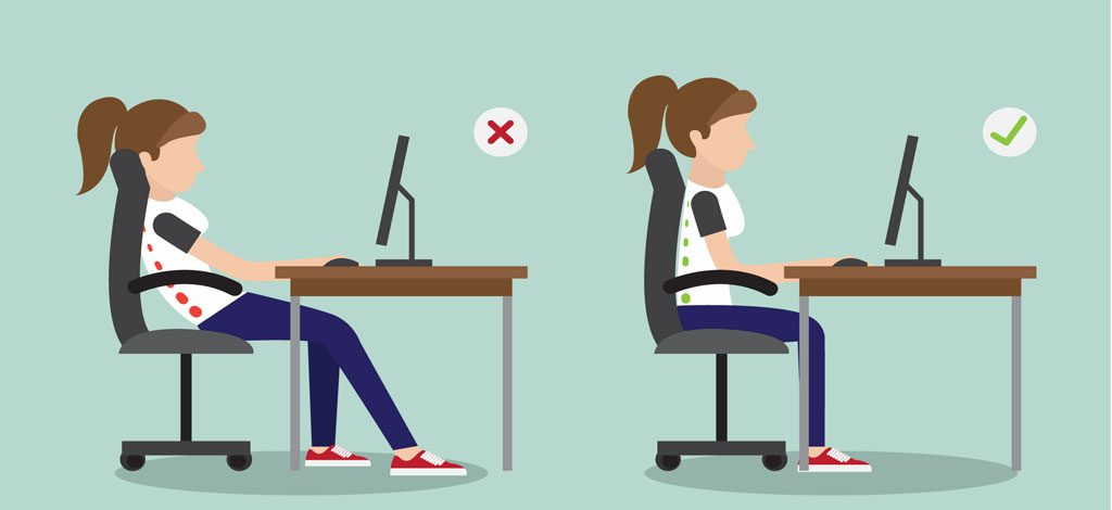 correct posture while working