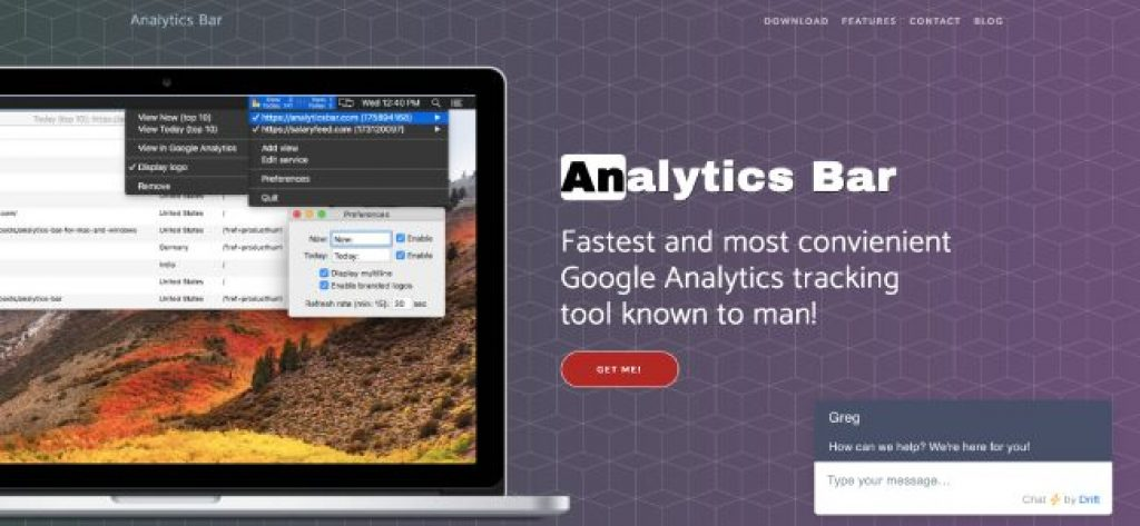 analytics bar