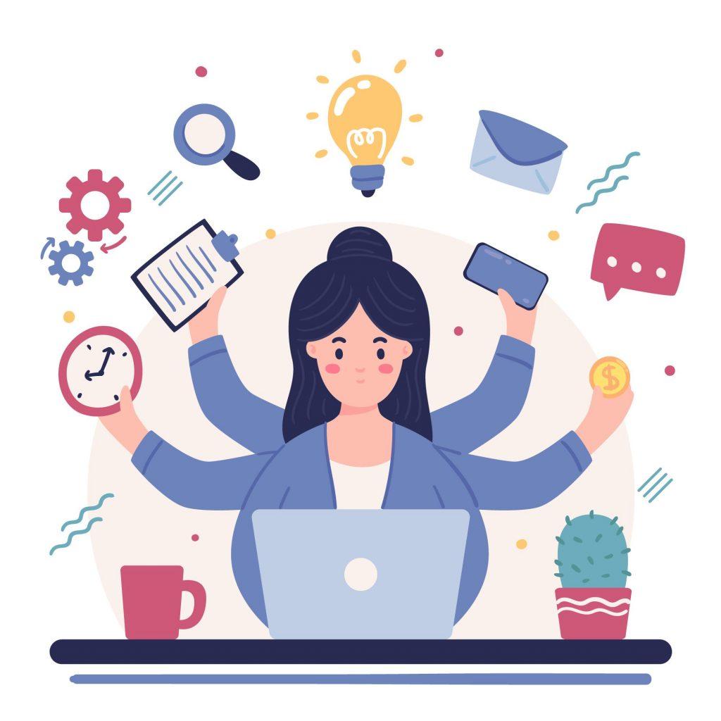 Avoid poor time management, never, ever multitask!